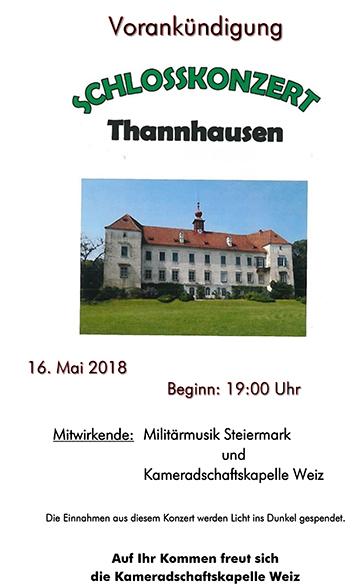 Schlosskonzert Vorankündigun