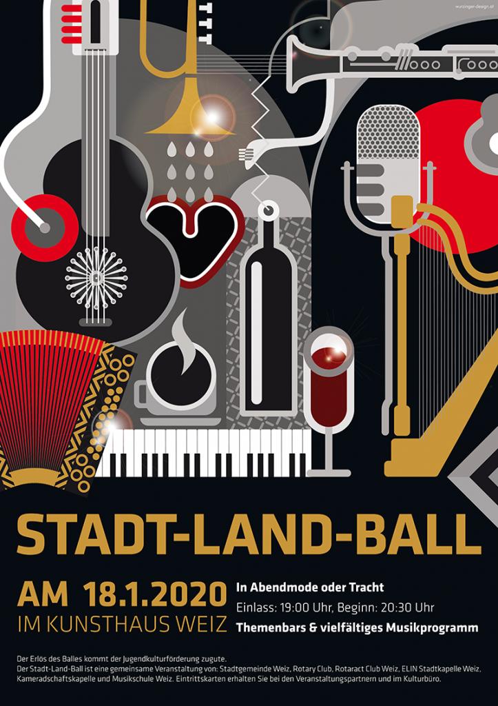 Plakat Stadt-Land-Ball 2020
